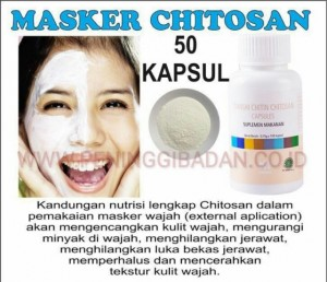 Masker Chitosan 50 Butir Pemutih bebas jerawat untuk kulit berminyak