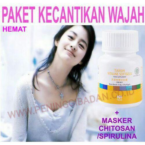 Paket Kecantikan Vitaline Masker Spirulina Chitosan